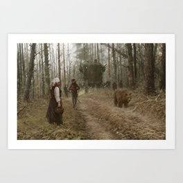 better watch out, he really likes mushrooms Art Print