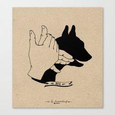 Hand-shadows Mr Dog Canvas Print