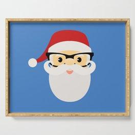 Hipster Santa Claus Serving Tray