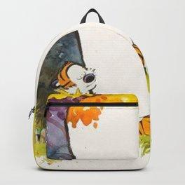 Calvin And Hobbes Cartoon Backpack