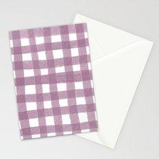 Gingham Plum Stationery Cards