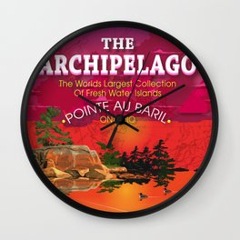 The Archipelago with Type Wall Clock