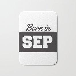 Born in September Bath Mat