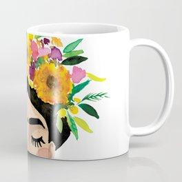 Floral Frida - Yellow Coffee Mug