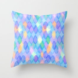 Abstract geometric pattern with rhombus Throw Pillow