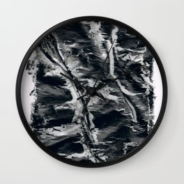 Low Paint Relief Collage Wall Clock