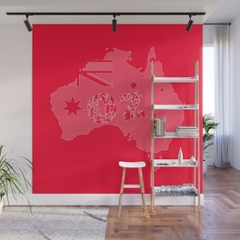 OZ Red Backround Wall Mural