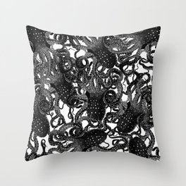 Riptide_inkpool Throw Pillow