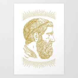 Holy Beard Art Print