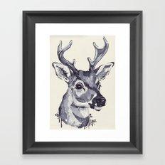 Deer Sketch Framed Art Print