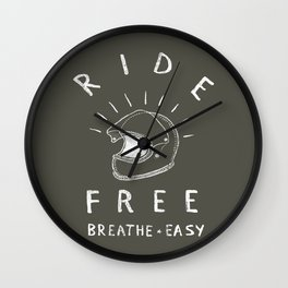breathe easy Wall Clock
