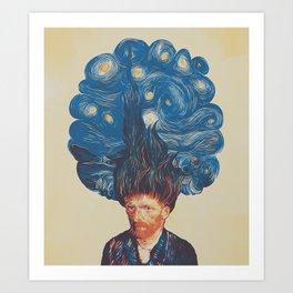 de hairednacht Art Print