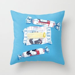 White Rabbit Candy 2 Throw Pillow