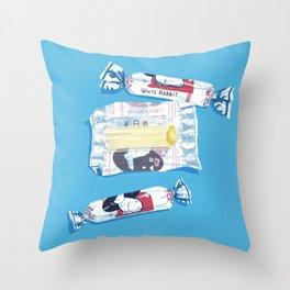 White Rabbit Candy 2 Throw Pillow
