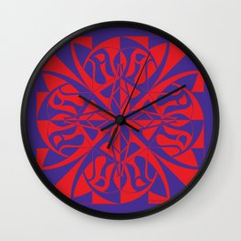 Think Mandala - Purple Red Wall Clock