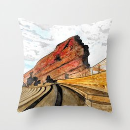 Red Rocks 2016 Throw Pillow