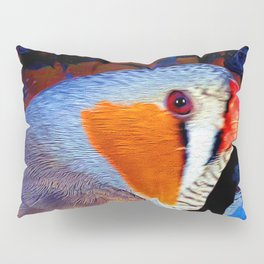Zebra Finch Painted Pillow Sham