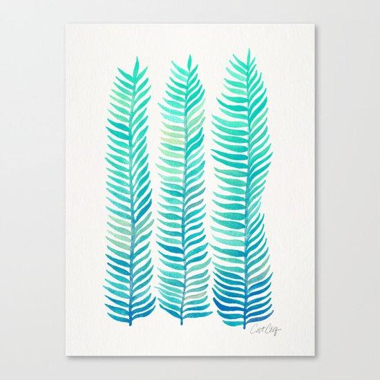 Seafoam Seaweed Canvas Print