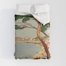 Vintage poster - Cote D'Azur, France Comforters