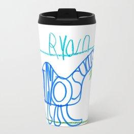 A 'LETTERED' Dinosaur Travel Mug