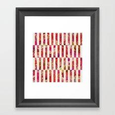 PINK FLORAL ORDER Framed Art Print