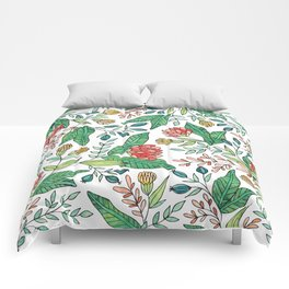 Wildflower Pattern - Full Color Comforters