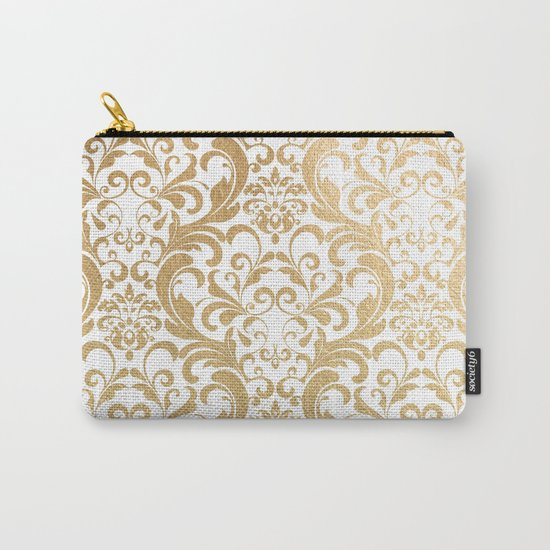 Gold swirls damask #2 Carry-All Pouch