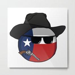 Texas Polandball memes USA flag cowboy Metal Print
