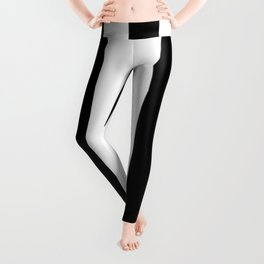 Stripes Black And White Leggings