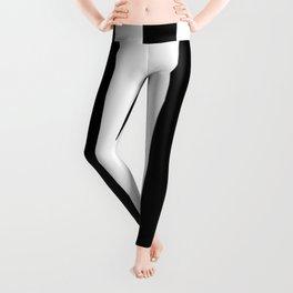 Stripes Black And White Leggings