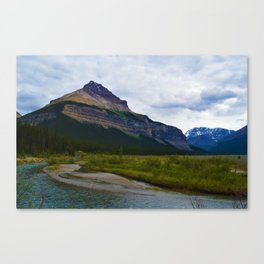 Tangle Ridge in the Columbia Icefields area of Jasper National Park, Canada Canvas Print