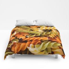 Pasta Noodles Pattern (Color) Comforters