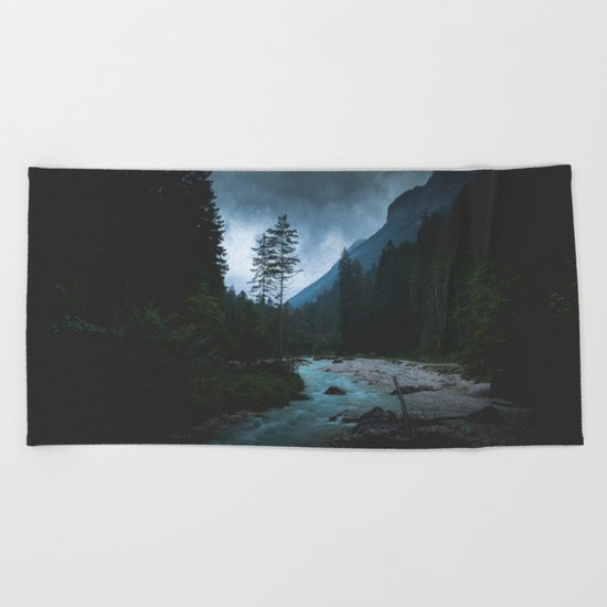 Landscape Mood #creek Beach Towel