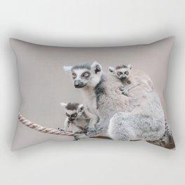 RINGTAILED LEMUR FAMILY by Monika Strigel Rectangular Pillow