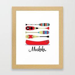Muskoka Canoe Framed Art Print