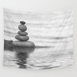 Seaside Harmony Zen Pebble Wall Tapestry