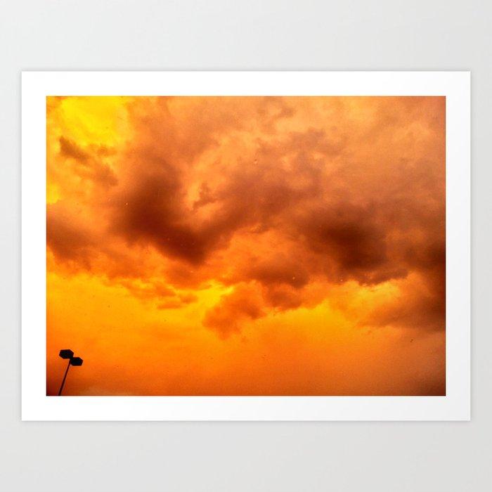 Orange Inferno Art Print