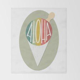 Taro Patch Design Aloha Shave Ice Throw Blanket