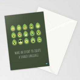 The avocado language Stationery Cards
