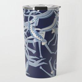 monkey blue Travel Mug