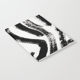 Black and White Abstract Pattern 1: A minimal black and white pattern by Alyssa Hamilton Art Notebook