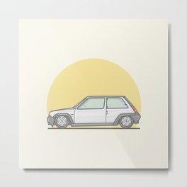 Renault 5 GT Turbo vector illustration Metal Print