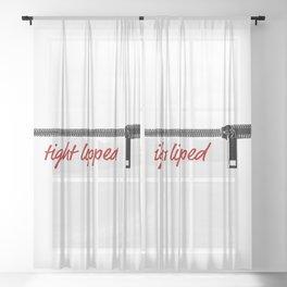 Tight Lipped Sheer Curtain