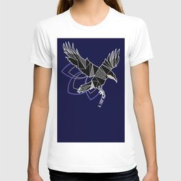 Geometric crow T-shirt