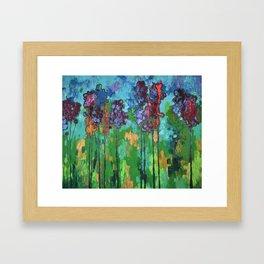 Abstract Flowers Framed Art Print