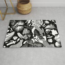 Surreal Wildlife / Black and White Rug