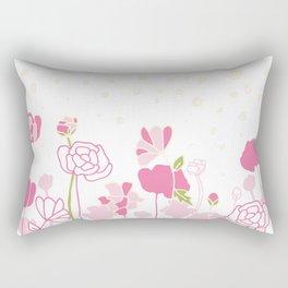 Rose Border Rectangular Pillow