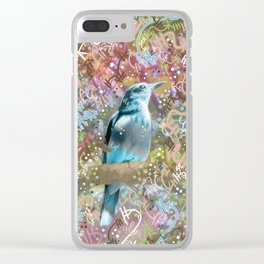 Little Scrub Jay Clear iPhone Case