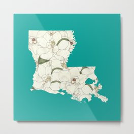 Louisiana in Flowers Metal Print