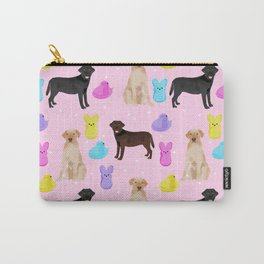 Labrador retriever dog breed peeps marshmallow treat easter spring dog gifts Carry-All Pouch